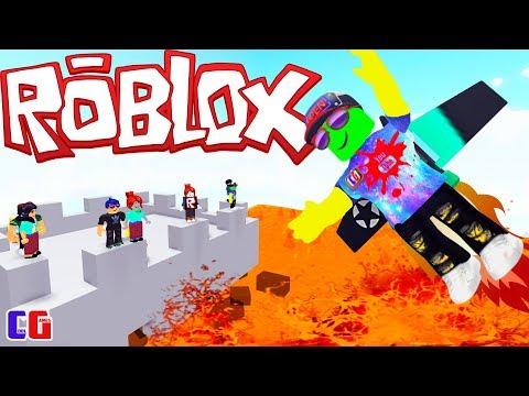 ПОЛ ЭТО ЛАВА! Безумный ЧЕЛЛЕНДЖ в Роблокс Убегаю от лавы в игре Roblox The Floor Is LAVA