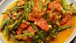 素食料理Vegan《四季豆炒蕃茄 | Stir Fried Green Beans & Tomatoes》酸咸可口,學會這種簡單特色做法,非常开胃,好吃到吃光光!