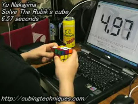 Rubik's Cube: 6.57 seconds
