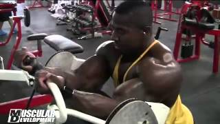 Joe Mackey Trains Delts and Biceps in Ronnie Coleman Classic Prep
