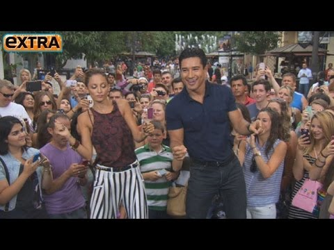 Nicole Richie Shows Mario Lopez Her Signature Dance Move
