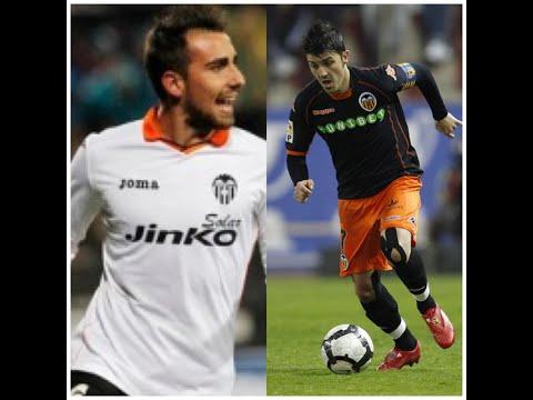 David Villa and Paco Alcacer-Valencia CF Warriors
