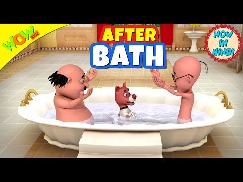After Bath | New year's special | Hindi Songs for Children | Motu Patlu | WowKidz thumbnail