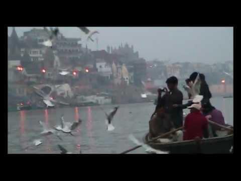 Varanasi, India (Uttar Pradesh वाराणसी Benares) Banaras Ghats & Ganges River