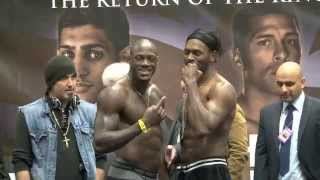 DEONTAY WILDER v AUDLEY HARRISON - OFFICIAL WEIGH-IN / THE RETURN OF THE KING / iFILM LONDON