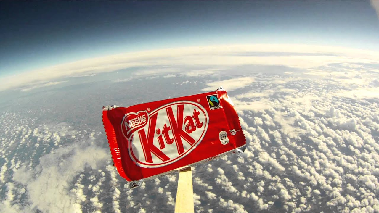 Kit Kat Goes To Space! #BreakFromGravity