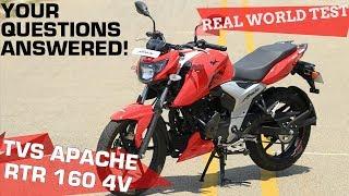 TVS Apache RTR 160 4V - Real World Road Test   ZigWheels.com