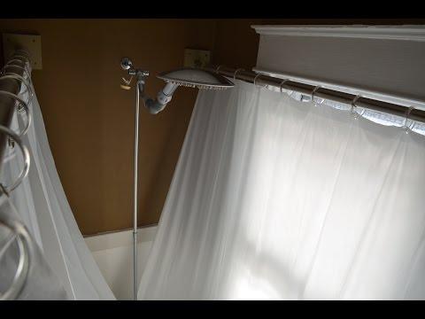 Clawfoot Tub Shower Curtain Liner Solution How To Save Money And Do It Yourself