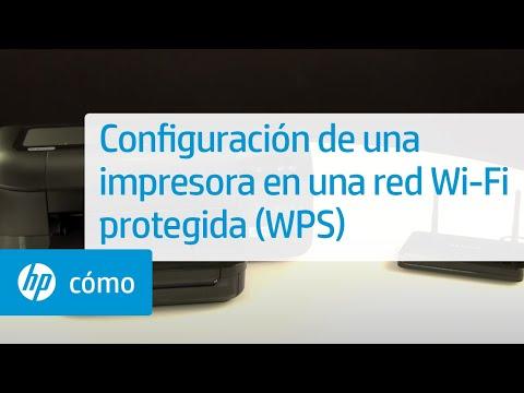 Configuración de una impresora en una red Wi-Fi protegida (WPS) | HP Computers | HP