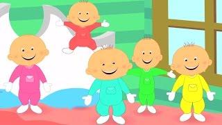 Fünf wenig Babies | Kinderlieder für Kinder | Kompilation