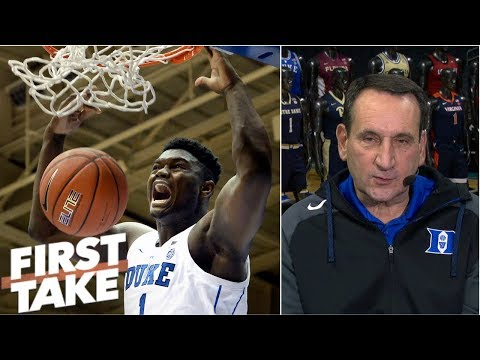 Coach K on Zion Williamson: 'most unique athlete I've coached at Duke' | First Take