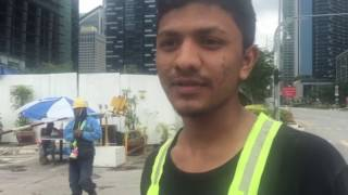 Bangladeshi worker Pobitro talks about the accident at Marina One