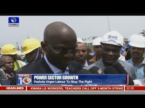 News@10: Fashola Inspects Transmission Facility In Lagos  Pt.2 -- 08/02/16