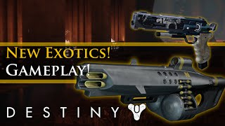 Destiny - Rise of Iron: New Exotic Weapon Gameplay! Exotic Ornaments! (Weapon Skins)