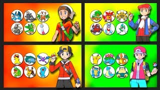 Pokemon owned by Every Male Game Protagonist from the Anime