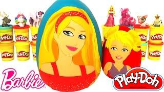 2 Huevos Sorpresas de Barbie y Chelsea en Español Plastilina Play Doh