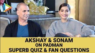 Akshay Kumar   Sonam Kapoor   Padman    Full Interview