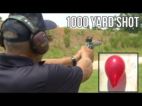WORLD RECORD 1000 yard shot with a 9mm Hand Gun!   S&W 929 by Jerry Miculek