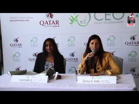 Qatar Airways CEO Golf Tournament 2014 Press Meet