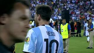 Lionel Messi emotional after heartbreaking loss in Copa America final | FOX SOCCER