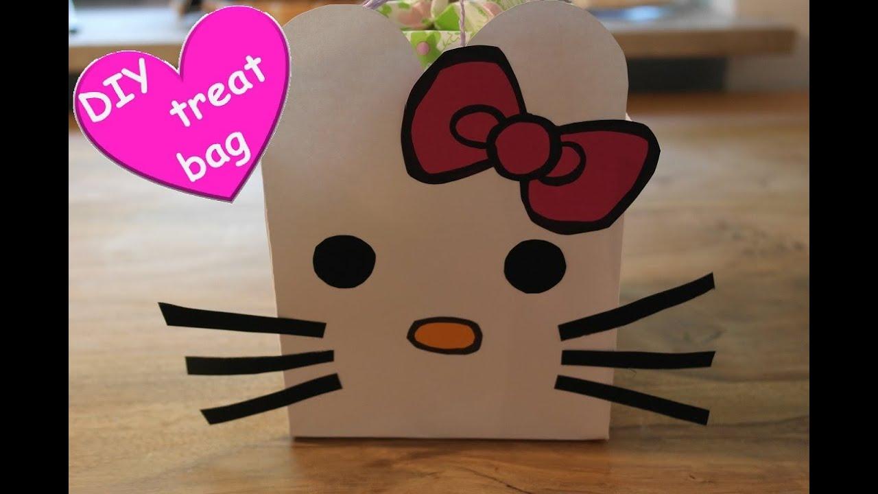 Diy hello kitty treat bag hello kitty vorlagen hello for Diy kitty