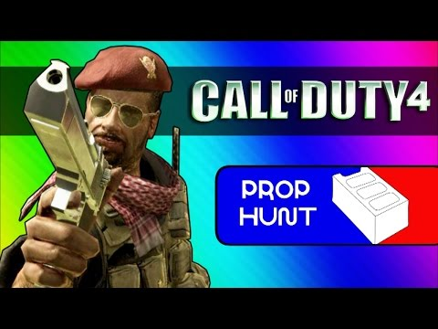 Call of Duty 4: Prop Hunt Funny Moments - Cinder Block Family, Seananners