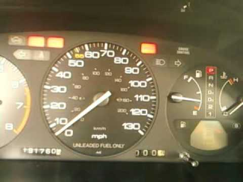 1991 Honda Accord Check Engine Light Mp4 Youtube