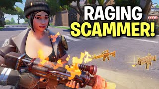 Raging insane scammer loses his 130s? 😂 (Scammer Get Scammed) Fortnite Save The World