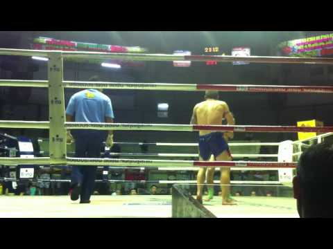 MAUI THAI fight at Rajadamnern Boxing Stadium Bangkok Thailand