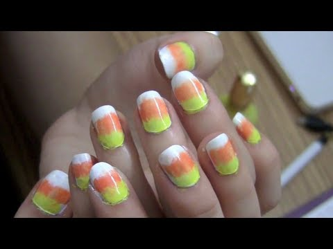 Candy Corn Nails Tutorial Candy Corn Inspired Nail