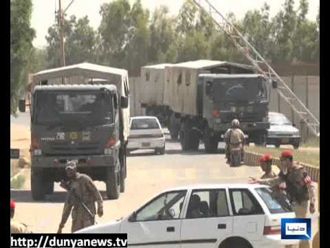 Dunya news-Army Deployment  In Karachi-03-05-2013