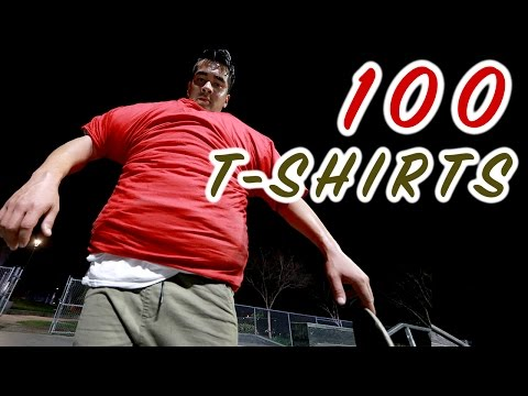 100 Layers Of T-shirts Skateboarding