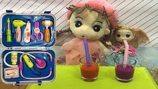 Game Examination for baby dolls l Baby Playing with Doctor Toys for Kids Songs Nursery Rhymes