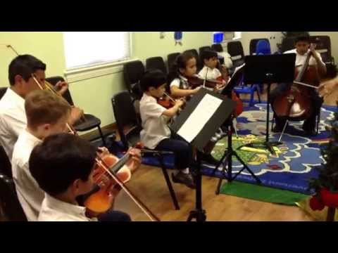Dallas Christian Academy Strings practice  My Country 'Tis of Thee