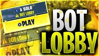 How To Get Into *BOT LOBBIES* In Fortnite Season 9 | Fortnite Small Lobbies Glitch Season 9📉