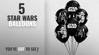 Top 10 Star Wars Balloons [2018]: Qualatex Star Wars Biodegradable Latex Balloons Onyx Black with