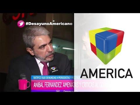 El exjefe de Gabinete Aníbal Fernández habló hoy en Desayuno americano.