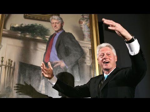 Bill Clinton Portrait Includes Hidden Monica Lewinsky Reference