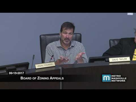 06/15/17 Board Of Zoning Appeals Meeting