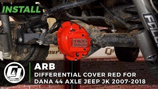 2007-2018 Jeep Wrangler JK with a Dana 44 Axle Install: ARB Red Differential Cover