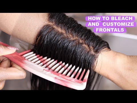 STEP BY STEP TUTORIAL ON HOW TO BLEACH THE KNOT ON A LACE FRONTAL FT. JULIA HAIR MALL | OMABELLETV