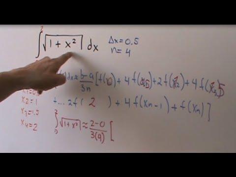 Integración Numérica - Regla de Simpson