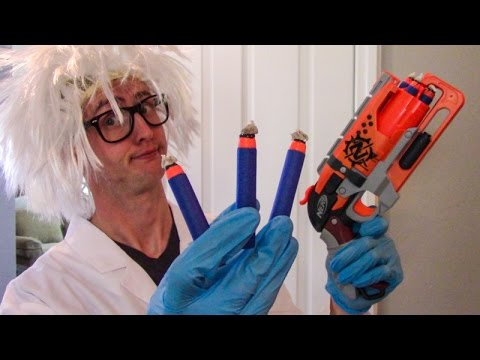 ENHANCED NERF ELITE DARTS?! LAB TEST!
