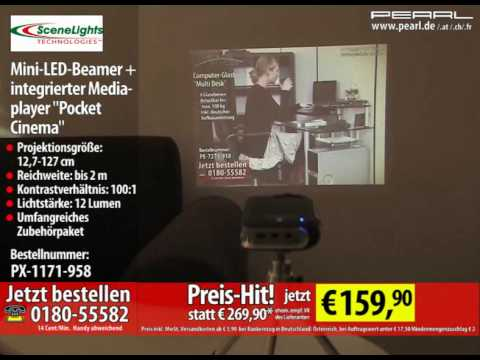 SceneLights Mini-LED-Beamer   integrierter Mediaplayer