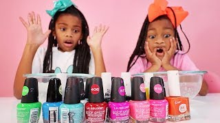 Mixing Color Nail Polish In Clear Slime