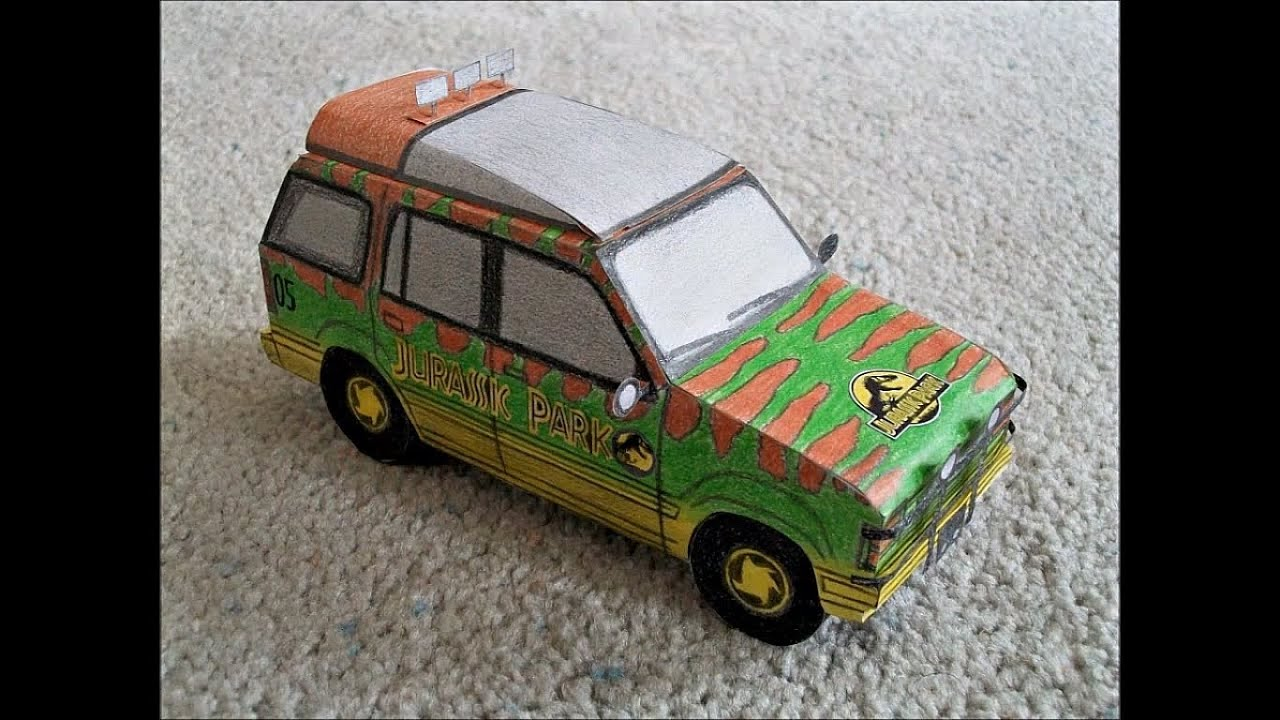 Paper model of the jungle ford explorer from the movie quot jurassic park quot youtube