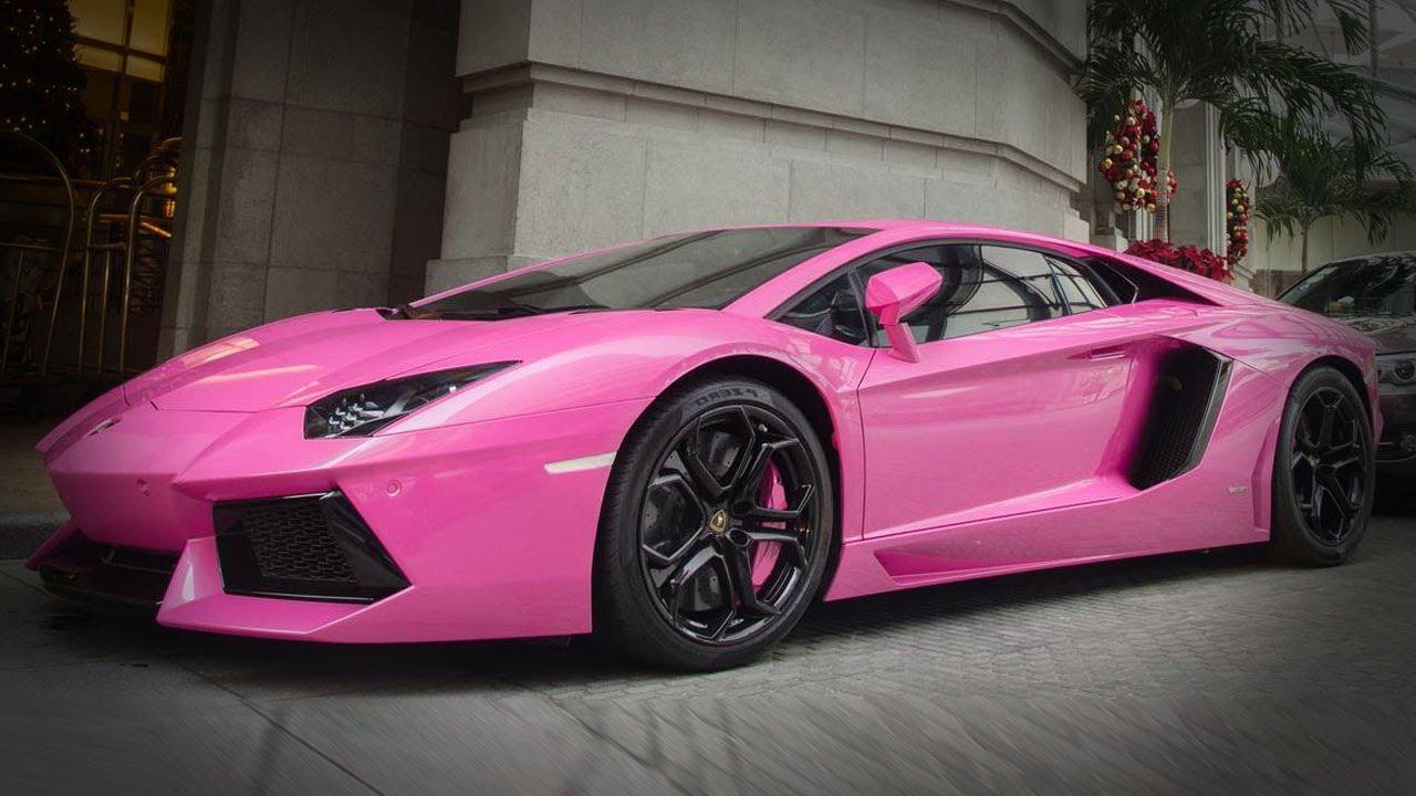 Bright Pink Lamborghini Aventador Youtube