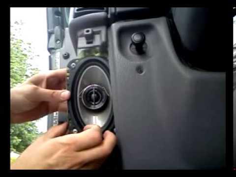 Jeep Tj Front Speaker Installation Youtube