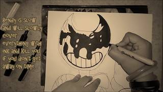How to draw Ink Demon Bendy