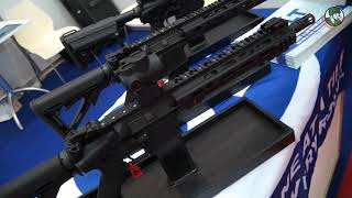 Colt from United States introduces its new M5 5.56mm enhanced carbine at BIDEC 2017